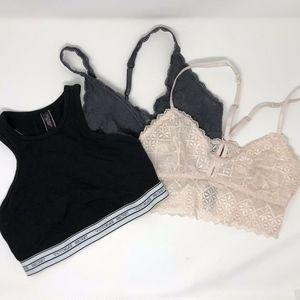 VS & Sophie B  Bralettes Gray Pink & Peach Small